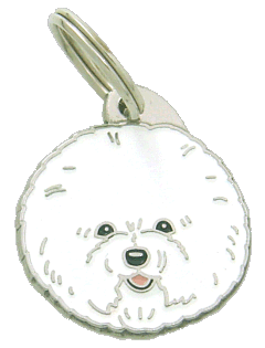 BICHON FRISE - pet ID tag, dog ID tags, pet tags, personalized pet tags MjavHov - engraved pet tags online